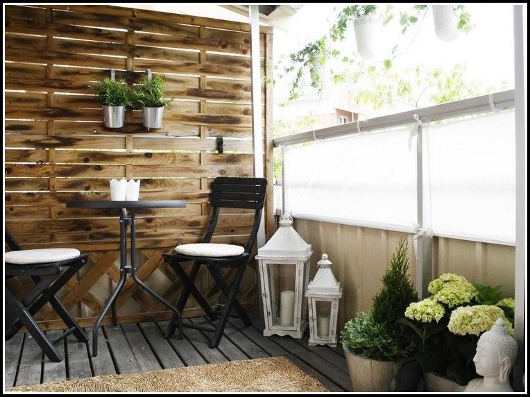 Sichtschutz Balkon Holzoptik