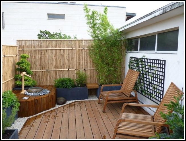 Sichtschutz Balkon Pvc Bambus