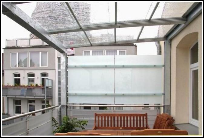 Sichtschutz Balkon Seitlich Holz