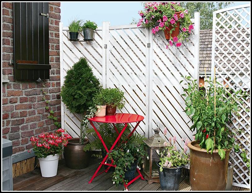 Sichtschutz Balkon Stoff Grün