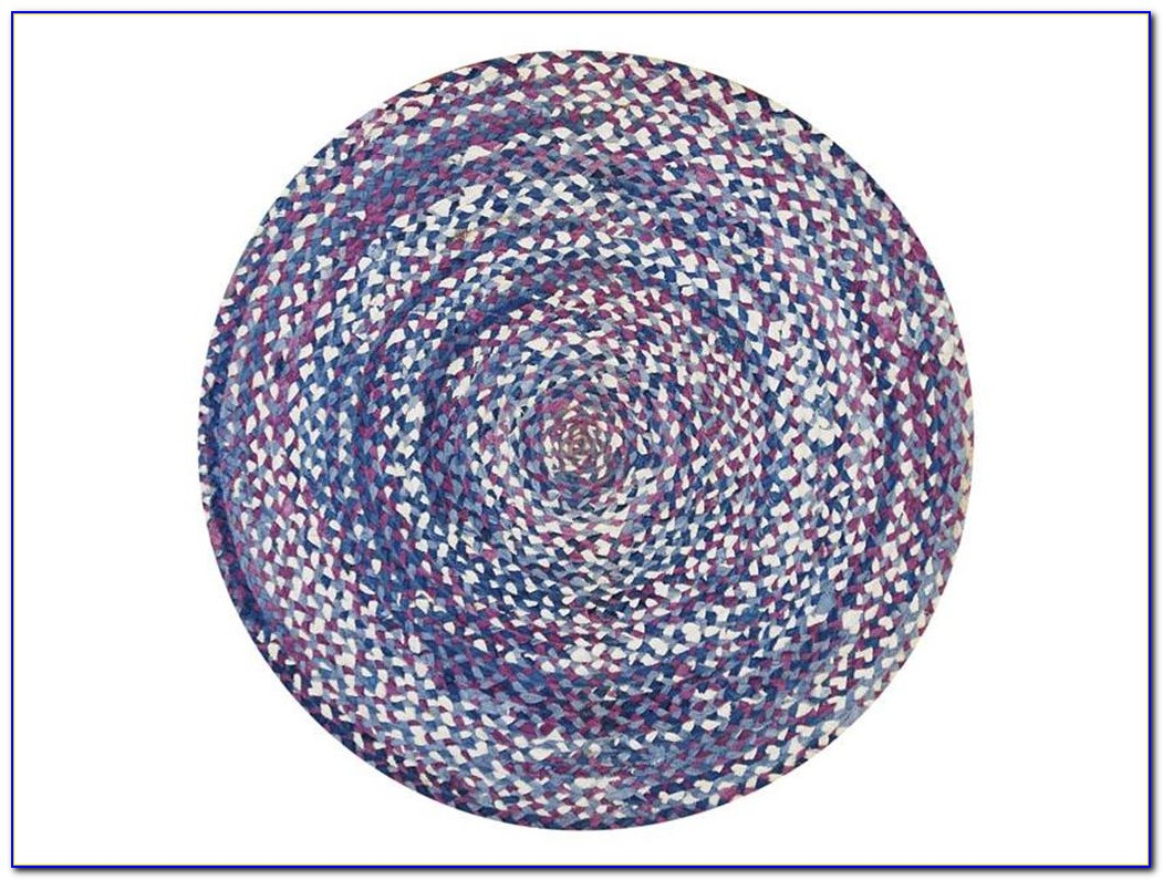 Sisal Teppich Rund Blau
