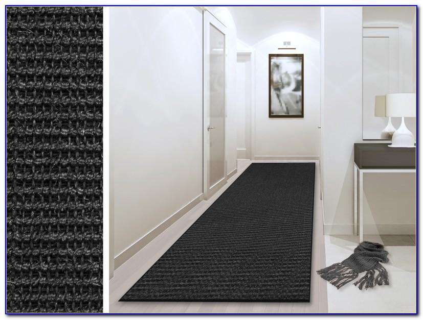 Sisal Teppich Schwarz Weiß