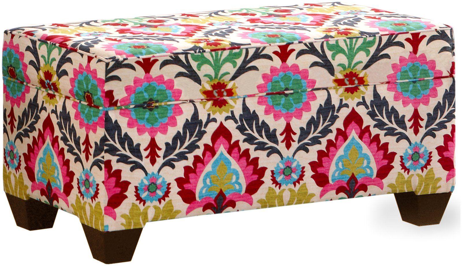 Skyline Furniture Storage Bench Santa Maria Desert Flower
