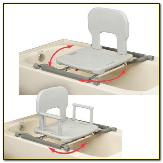 Sliding Transfer Bench With Padded Swivel Seat