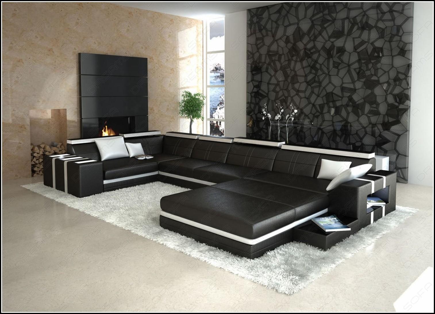 Sofa U Form Schwarz