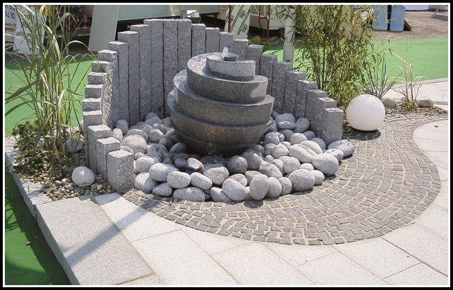 Solar Gartenbrunnen Mit Beleuchtung