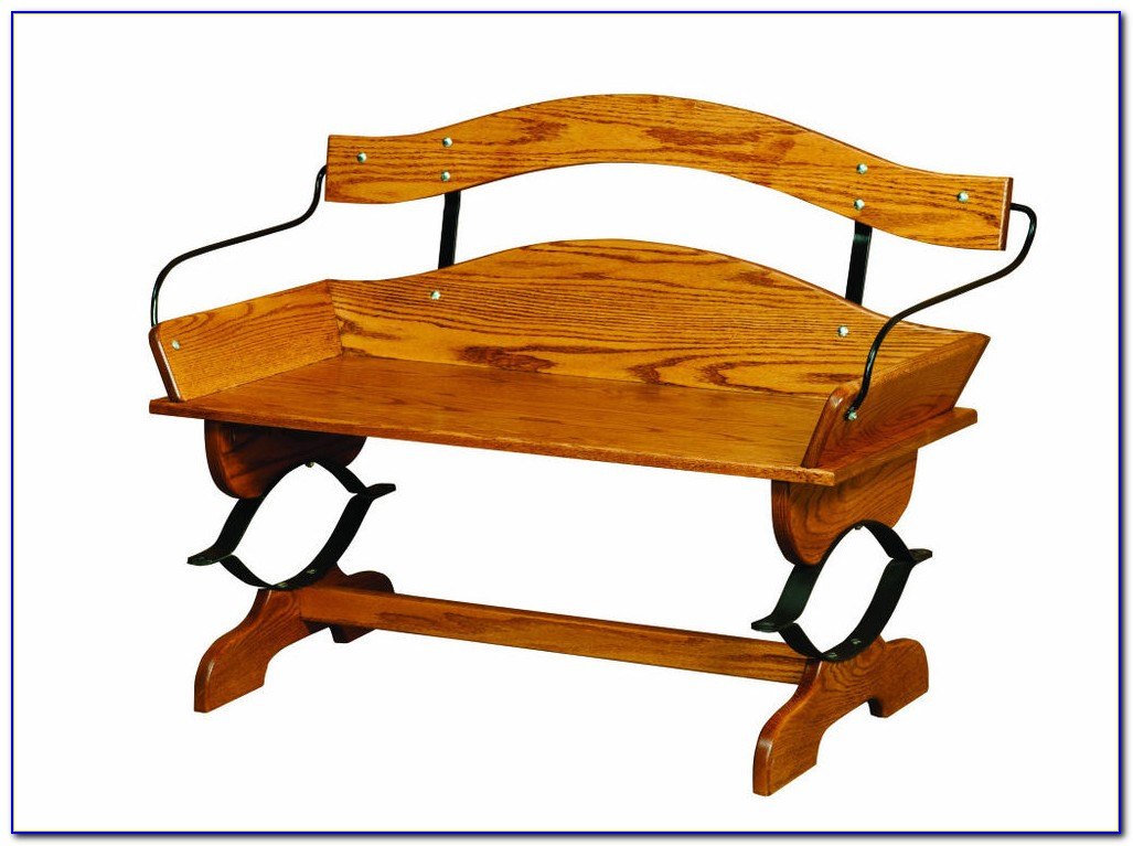 Solid Wood Entryway Bench