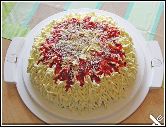 Spaghetti Eis Kuchen Rezept