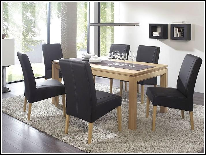 Stühle Esszimmer Leder Braun