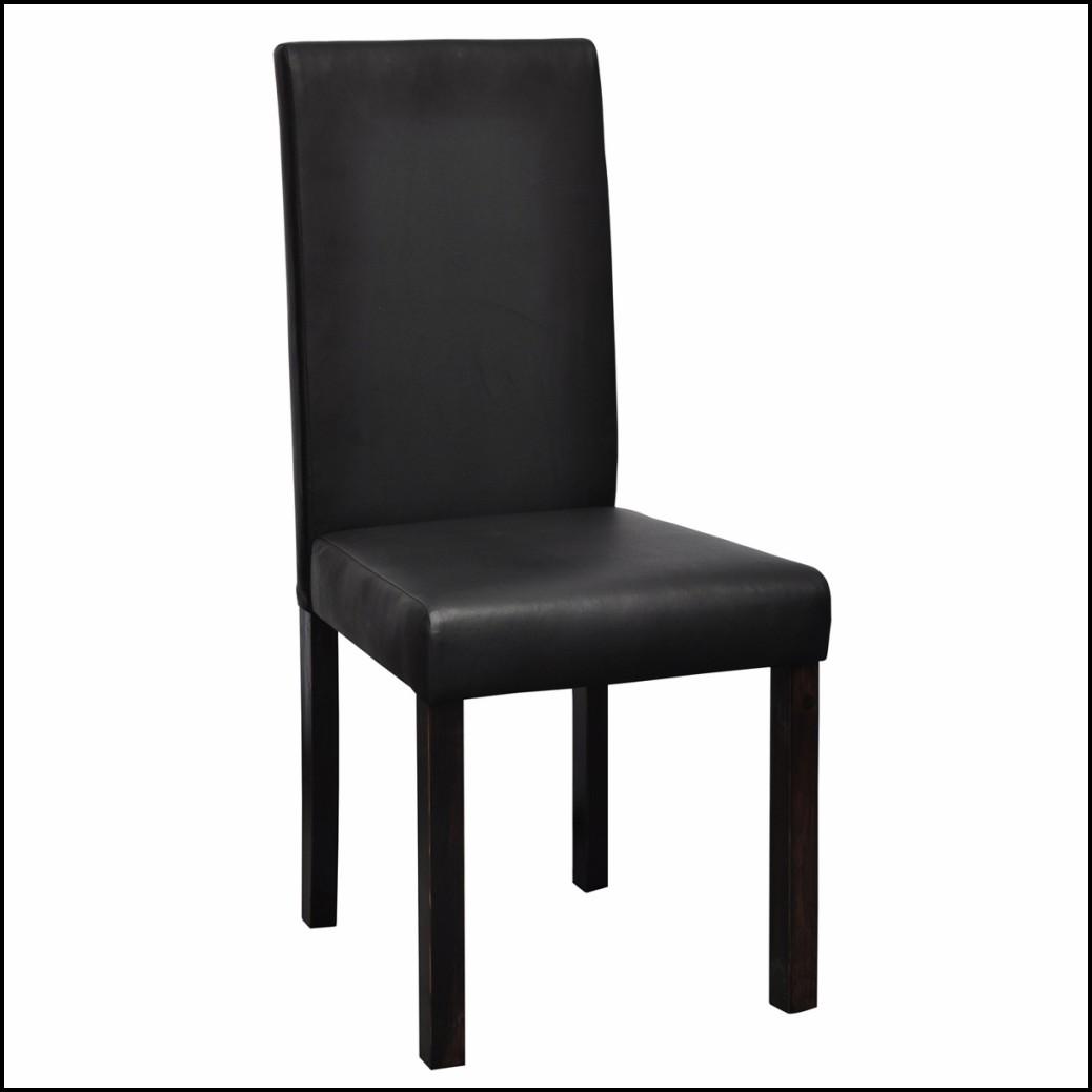 Stühle Esszimmer Leder Schwarz