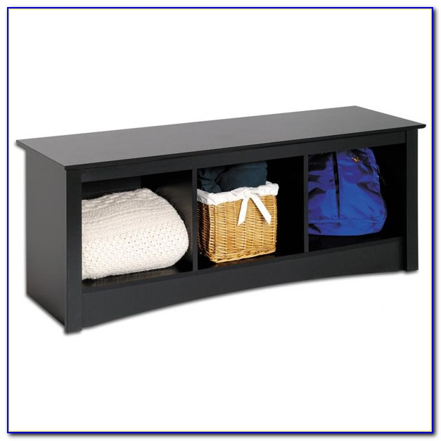 Storage Bench With Cubby Holes