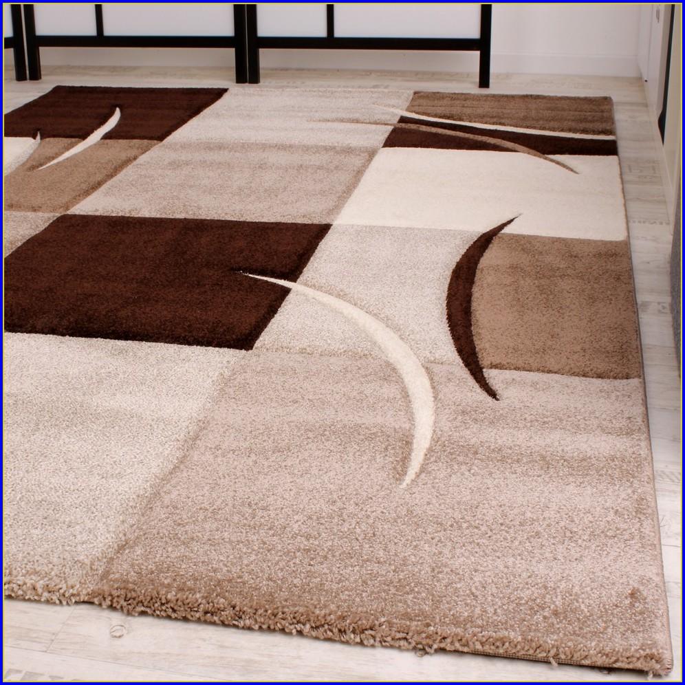 Teppich Blau Braun Beige