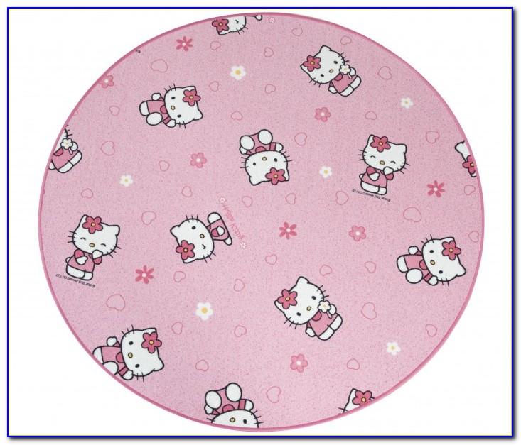 Teppich Hello Kitty Rund