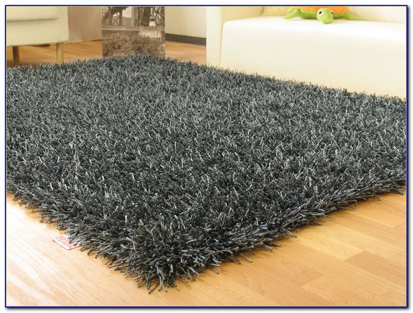 Teppich Langflor Grau