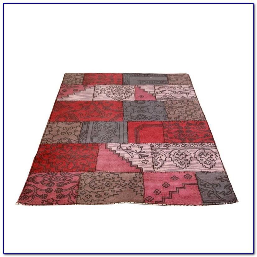 Teppich Rot Grau