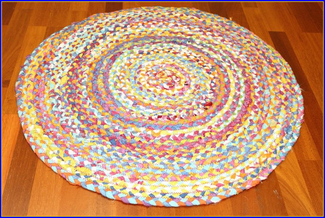 Teppich Rund 120 Braun