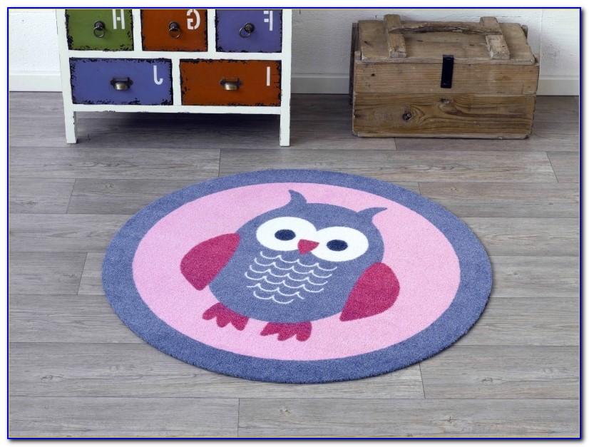 Teppich Rund 130 Blau