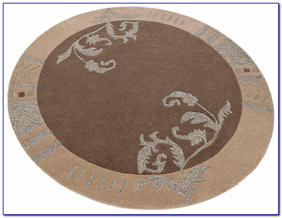 Teppich Rund 200 Braun
