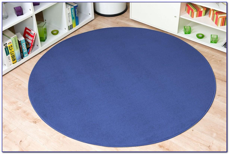 Teppich Rund Blau 120