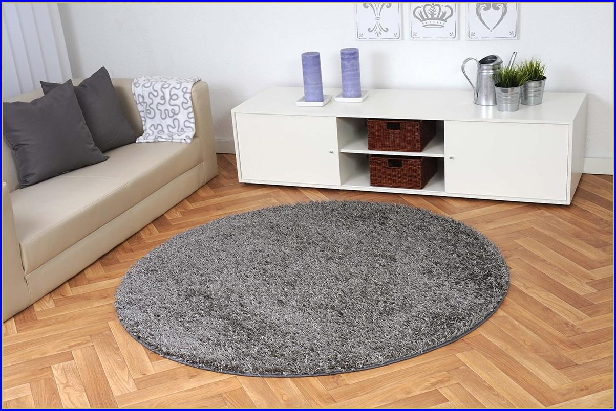 Teppich Rund Grau 200 Cm