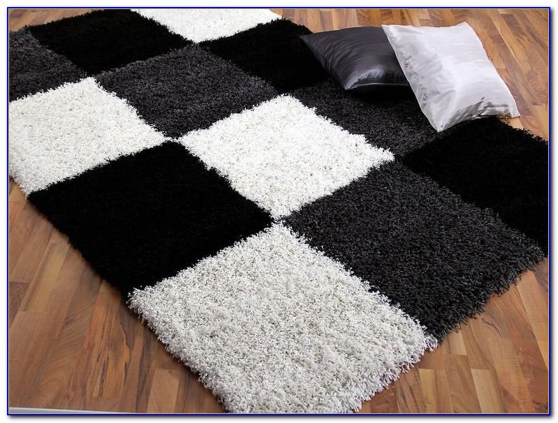 Teppich Schwarz Weiß Grau