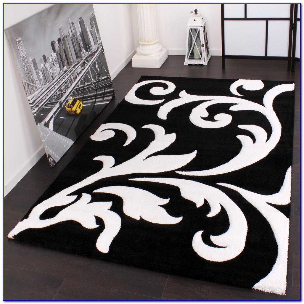 Teppich Schwarz Weiß Rot