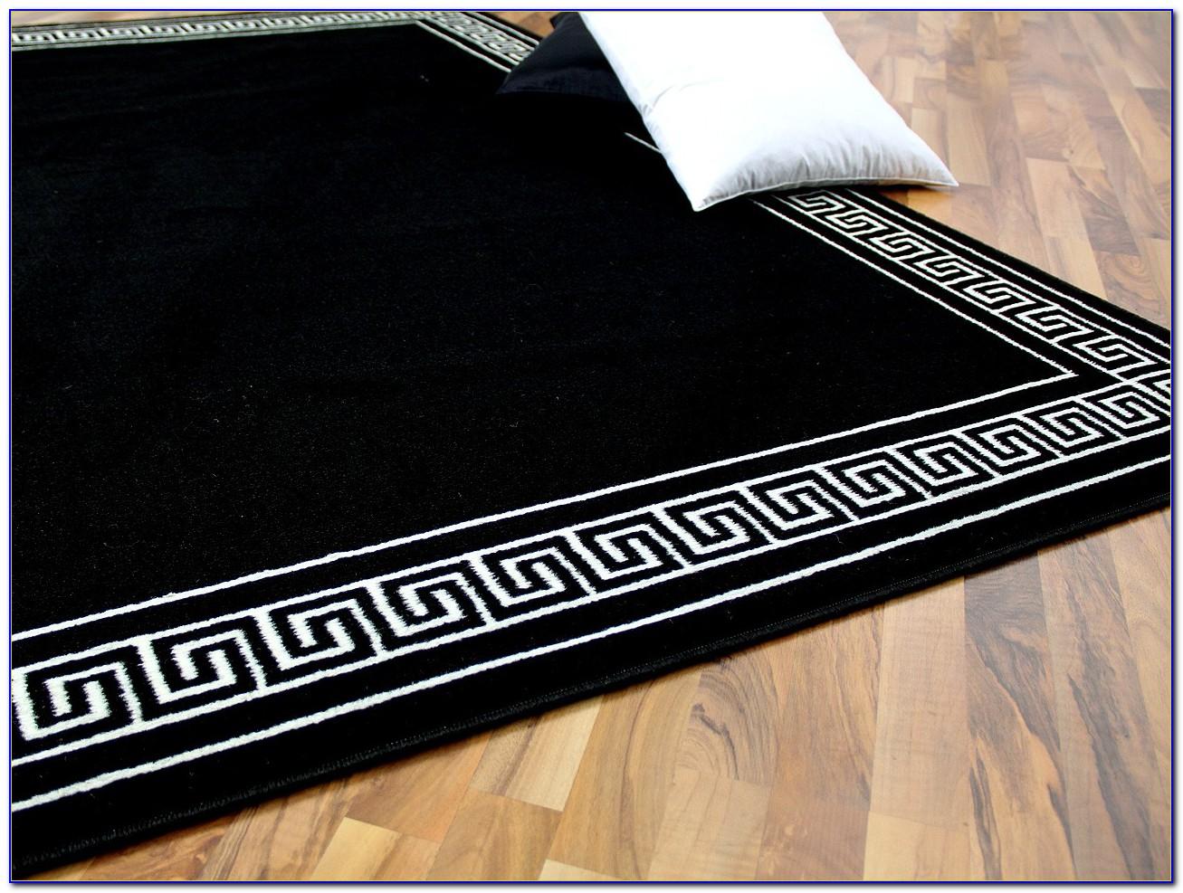 Teppich Schwarz Weiss Modern