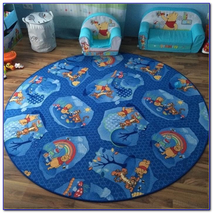 Teppich Winnie Pooh Rund Durchmesser 150 Handgetuftet