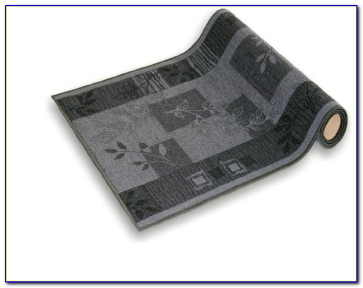 Teppichläufer Meterware Grau