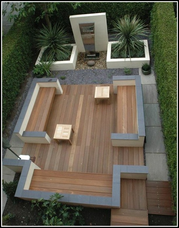 Terrasse Mit Holz Auslegen