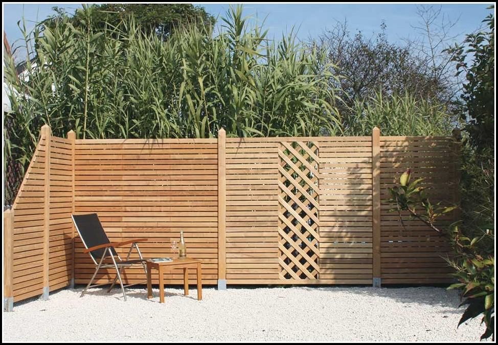 Terrasse Sichtschutz Wand