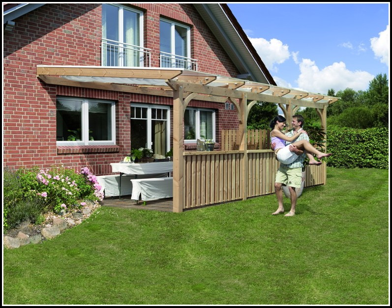 Terrassenüberdachung Bausatz Holz