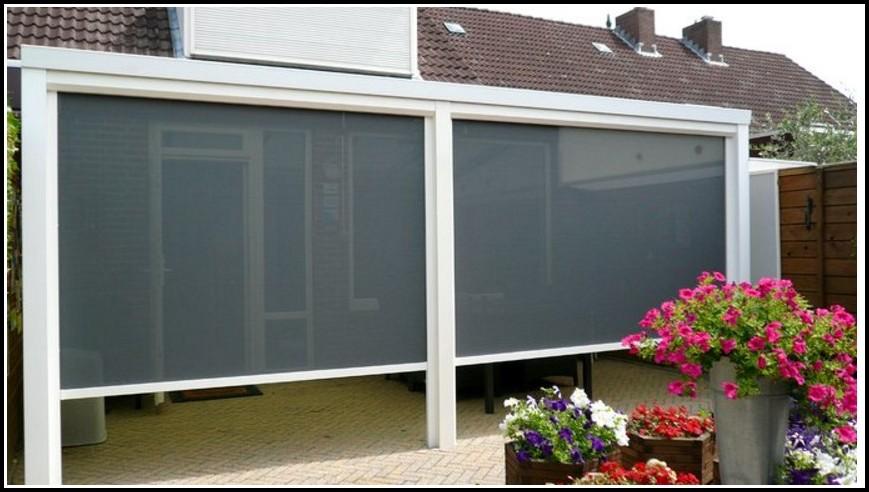 Terrassenüberdachung Beschattung Innen