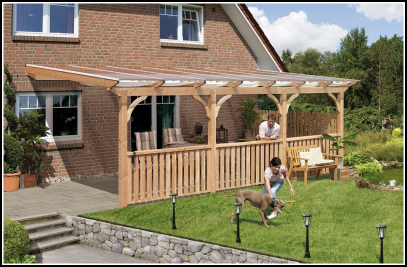 Terrassenüberdachung Freistehend Holz Selber Bauen