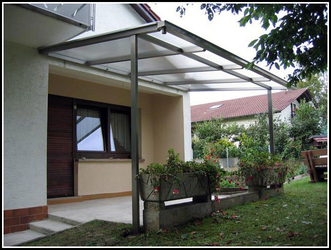 Terrassenüberdachung Glas Edelstahl
