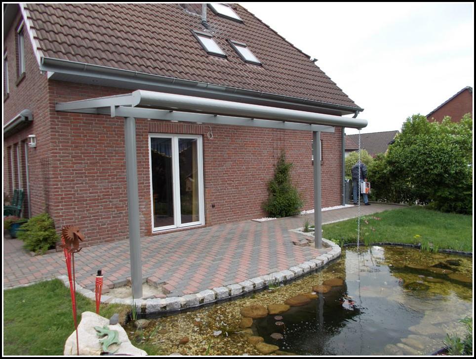 Terrassenüberdachung Sonnenschutz Innen