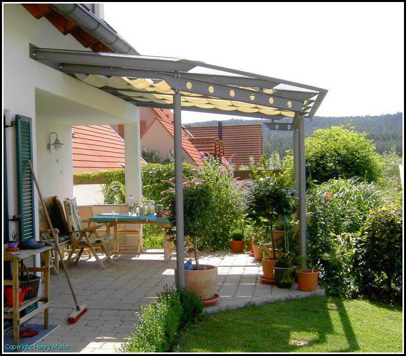 Terrassenüberdachung Verzinktem Stahl