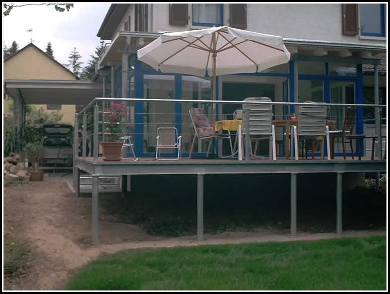 Terrassen Holz Unterkonstruktion
