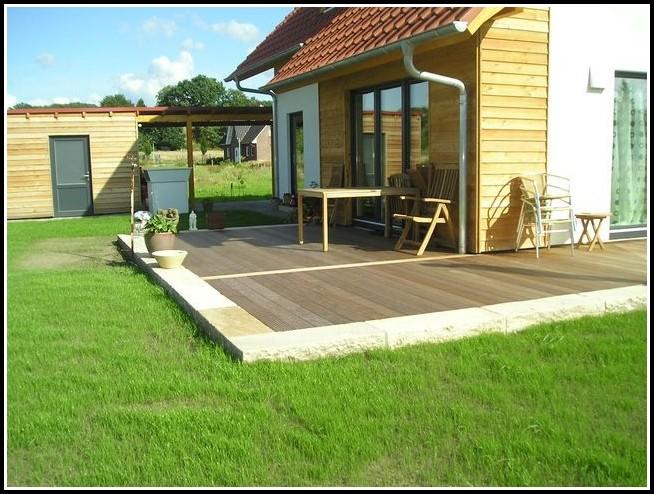 Terrassen Mit Holz Und Stein