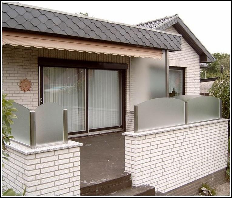 Terrassen Sichtschutz Aus Glas