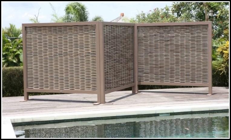 Terrassen Sichtschutz Aus Kunststoffgeflecht