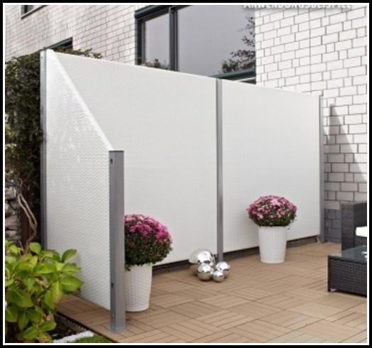 Terrassen Sichtschutz Kunststoff Weiß