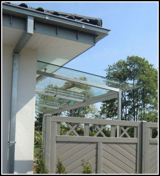 Terrassenberdachung Glas Alu