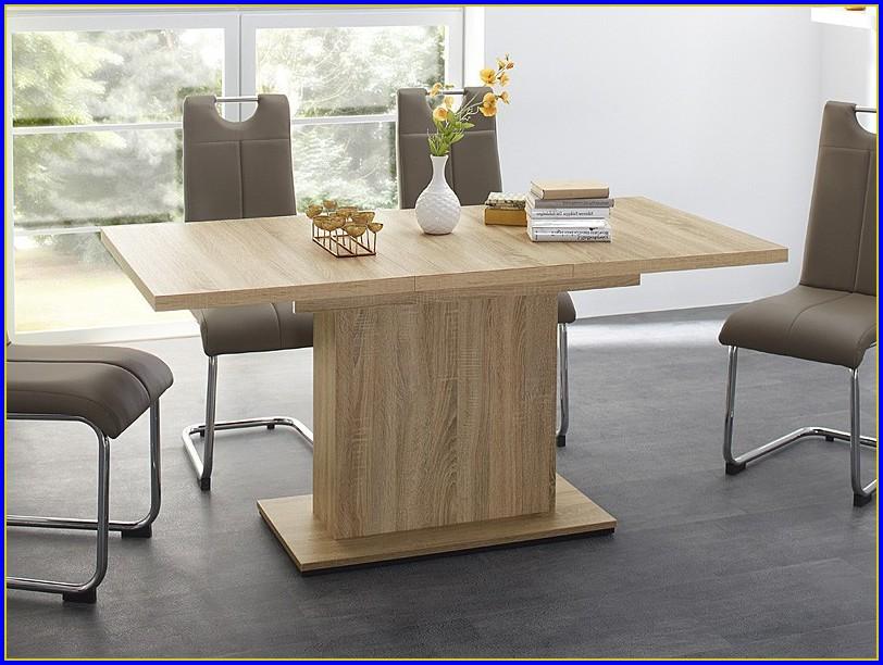 Tisch 120×80 Ausziehbar Weiß