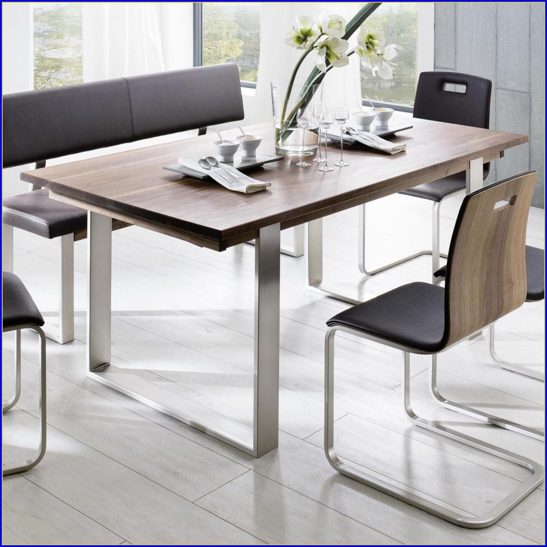 Tisch Nussbaum Massiv Ausziehbar