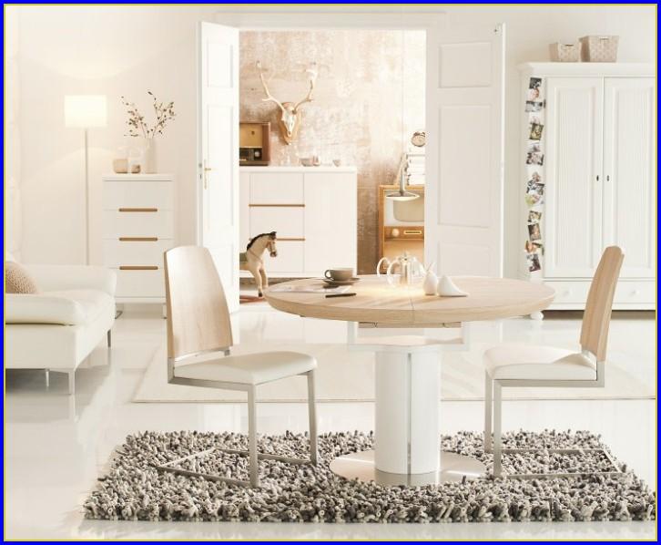 Tisch Rund Weiß Ausziehbar