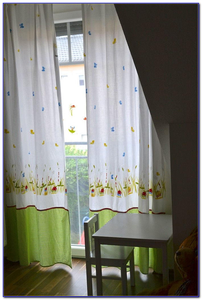 Vorhänge Babyzimmer Grün