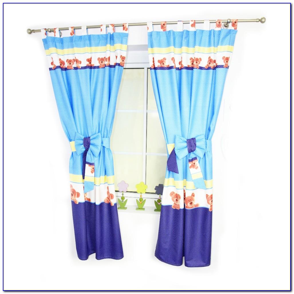 Vorhang Babyblau