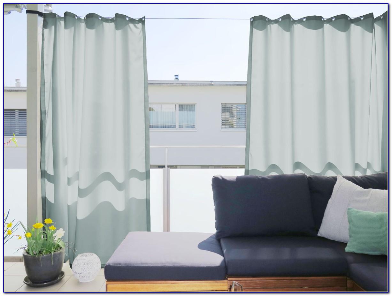 Vorhang Balkontür Aussen