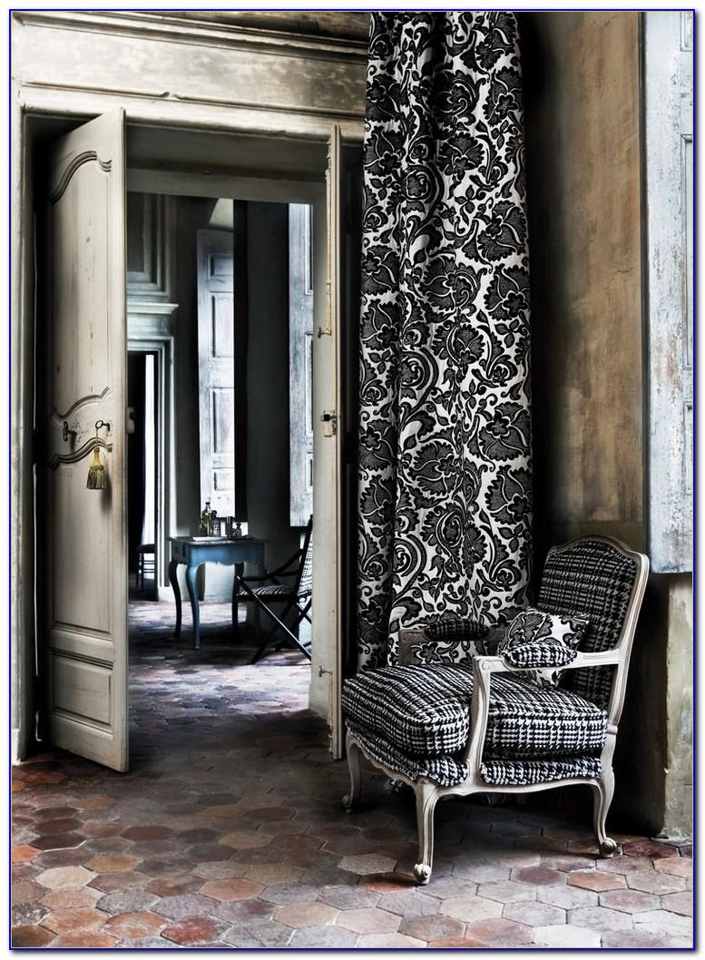 Vorhang Barock Lila